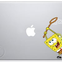 Spongebob MacBook Decal Mac Apple Pro Sticker 13 15 by MegaVinyl
