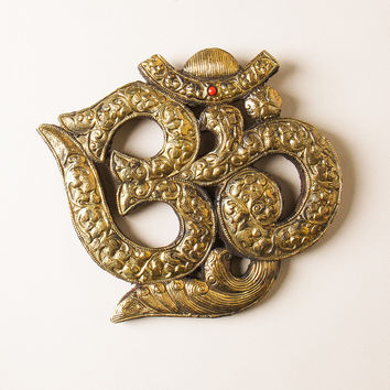Golden Om Wall Hanging