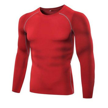 DCCKFS2 Men Breathable Outdoor Sports Tee Bodybuilding Gym Fitness Athletic Mens Running Elastic Slim T-shirt New