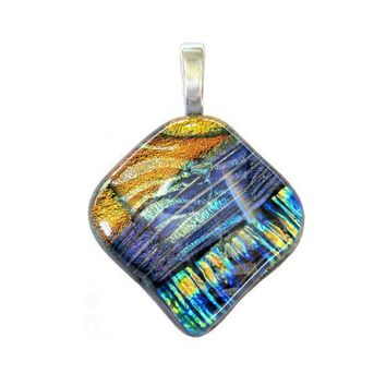 One of a kind Dichroic Glass Pendant by mysassyglass