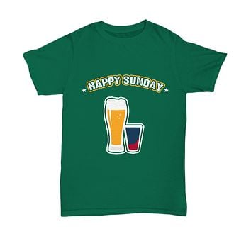 Happy Sunday Beers and Drinks Pint Drinking T-Shirt
