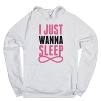 I Just Wanna Sleep-Unisex White Hoodie