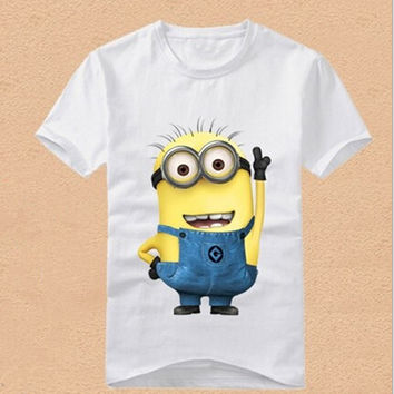 HOT 2017 New children clothes boys girls unisex t shirt cartoon Minions kids short sleeve t-shirts 100% cotton