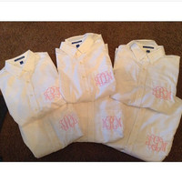 Monogram oxford button up
