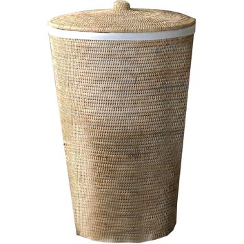 Laundry Hamper Basket DWBA Malacca with Lid 15 X 25 inch  - Rattan