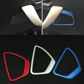 Chrome Stainless steel horn frame cover trim auto accessories Audio circles decorative strip 3D stickers for BMW f20 118i 116i