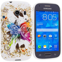 Colorful Butterfly TPU Design Rubber Skin Case Cover for Samsung Galaxy Ace Style S765C