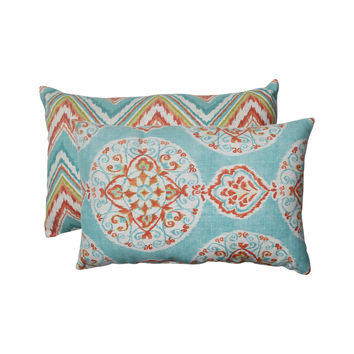 Pillow Perfect Mirage/ Chevron Rectangular Throw Pillows (Set of 2)