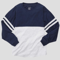 Athletic Unisex Pom Pom Pullover Jersey. Navy & Oxford.