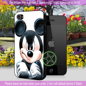 Amazing Mickey Mouse - iPhone 4 / iPhone 4S / iPhone 5 /Samsung S2 / samsung S3 /Samsung S4 Case Cover