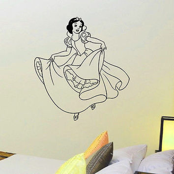 WALL DECAL VINYL STICKER CARTOON SNOW WHITE BABY ROOM NURSERY DECOR SB291