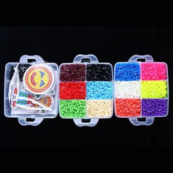 Luxury 9000 Pcs Box Set Hama Beads 5MM Perler Beads Fuse Beads 3D Puzzles Tangram Jigsaw Board Baby Educational Toys For Kids