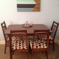 "Bassett mid century dining chairs and table 6 piece ""Young Ideas"" Collection"