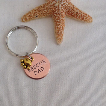 Rescue dad keyring, animal rescuer, animal rescue, animal adoption, save the animals, gifs for him