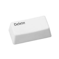 DELETUS ERASER | This irreverent eraser is shaped like the well-known, 'oh-no' key on the computer keyboard, bridging the gap between old school function and contemporary humor that's sure to give your circuit board lover a good chuckle. | UncommonGoods