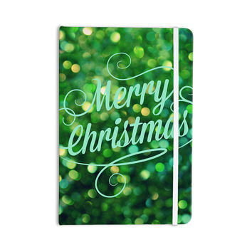 "Robin Dickinson ""Merry Christmas"" Green Everything Notebook"