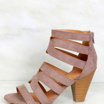 Walk This Way Strappy Heel Taupe