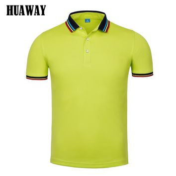 Men clothing New polo Shirt Business Casual fashion solid color polo male Short Sleeve designer breathable top tee Homme Camisas