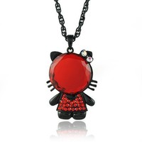 Hello Kitty Black and Red Necklace