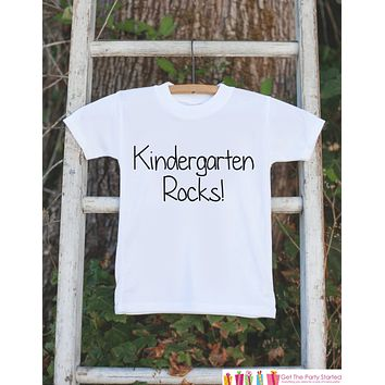 Back To School T-shirt - Kindergarten Rocks Outfit - Kids School Shirt - Girls or Boys School Top - Kindergarten Tee - First Day of School