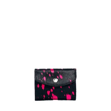 ASOS Leather Coin Purse With Pony Paint Splatter