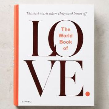 The World Book Of Love by Anthropologie in White Size: One Size Books