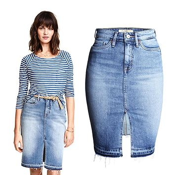 hot sale 2016 new summer autumn vintage washed denim skirt women high waist crotch jeans skirts female girls sexy skirt