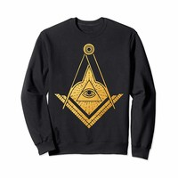 Mens Freemason Philanthropy Gold Masonic symbol sweatshirt
