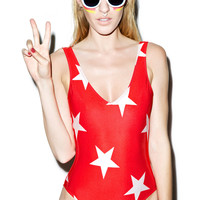 Wildfox Couture Starshine 80's One-Piece Hot Lipstick