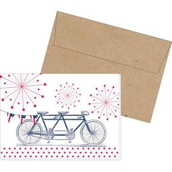 Independence Day Bicycle Fireworks American single card