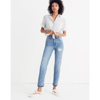 Classic Straight Jeans: Destructed Edition : shopmadewell straight-leg jeans | Madewell