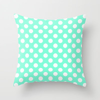 Tiffany Polka Dot Pattern Throw Pillow by RexLambo | Society6