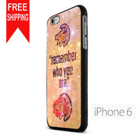 Lion King Samba Remember Who You Are NDR iPhone 6 Case