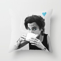 """ Black&White tea "" Throw Pillow by Karu Kara"