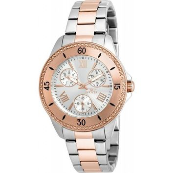 Invicta Women's 21686 Angel Quartz Chronograph Silver Dial Watch