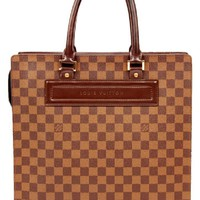 Louis Vuitton Damier Ebene Venice Gm Sac Plat 4854