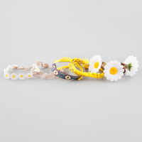 Full Tilt 5 Piece Daisy Bracelets Multi One Size For Women 25360795701