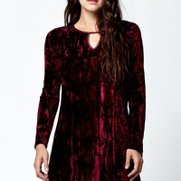 Jack by BB Dakota Martelli Velvet Dress - Womens Dress - Red