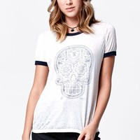 Sold Out Ringer T-Shirt - Womens Tee - Blue