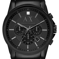 Men's AX Armani Exchange Diamond Marker Chronograph Bracelet Watch, 45mm