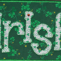 Irish Quilted Fabric Postcard