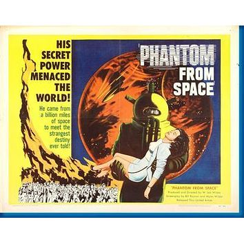 Phantom From Space Movie poster Metal Sign Wall Art 8in x 12in