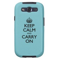 Blue Curacao Keep Calm And Carry On Galaxy SIII Cover
