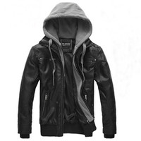 Free Shipping Motorbike Leather Jackets,Men's Slim Sexy Top Designed Pu Leather,Men's Warm Jackets Coat Colour:Black Size:M-XXL