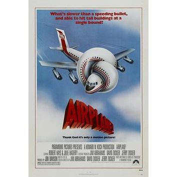 Airplane Movie poster Metal Sign Wall Art 8in x 12in