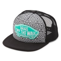 Vans Beach Girl Geo Trucker Hat (Black/True White)