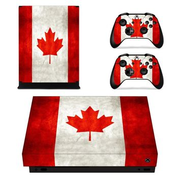 X0061 Game accessories Skin Sticker for Microsoft Xbox One X Console and 2 Controllers skins Stickers for XBOXONE X Enhanced