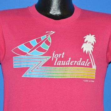 80s Ft Lauderdale Florida Rainbow Sailboat t-shirt Small