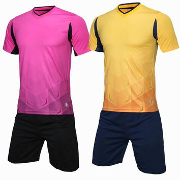 New Customize Adult sports Breathable Soccer Set running Gym Team game Soccer Jerseys Uniforms Kit Football Shirt Tracksuit