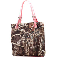 Camouflage Print Square Tote Bag
